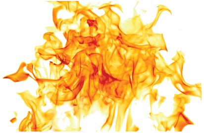 Flammen mit transparentem Hintergrund (GFK-Profile)