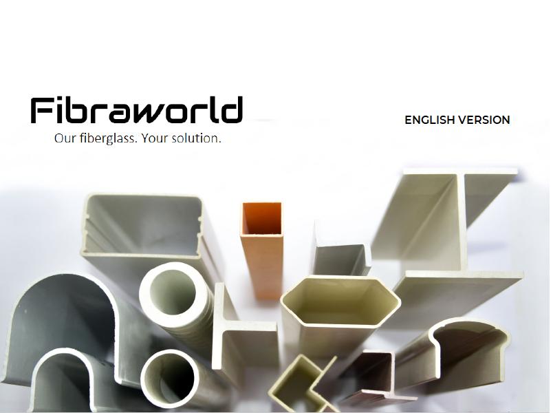 Fibraworld - Copertina Brochure Aziendale In Lingua Inglese